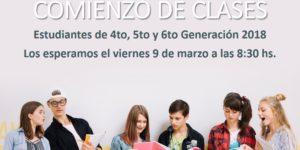 COMIENZO CLASES